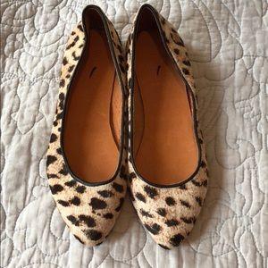 🆕 Madewell sidewalk skimmer leopard print flats